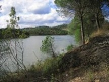 Vista del embalse.